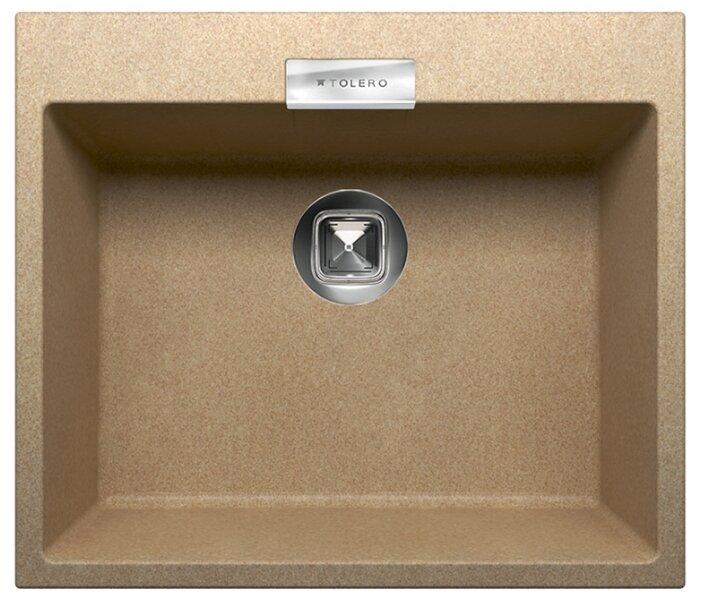 Врезная кухонная мойка Tolero Loft TL-580 58х50см кварцевый искусственный камень