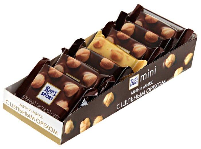 Купить Шоколад Ritter Sport mini с цельным орехом, 116 г (7 шт.) по низкой цене с доставкой из Яндекс.Маркета