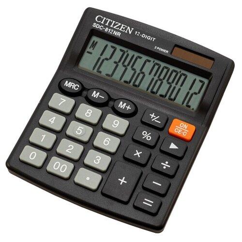Калькулятор бухгалтерский CITIZEN SDC-812NR черный