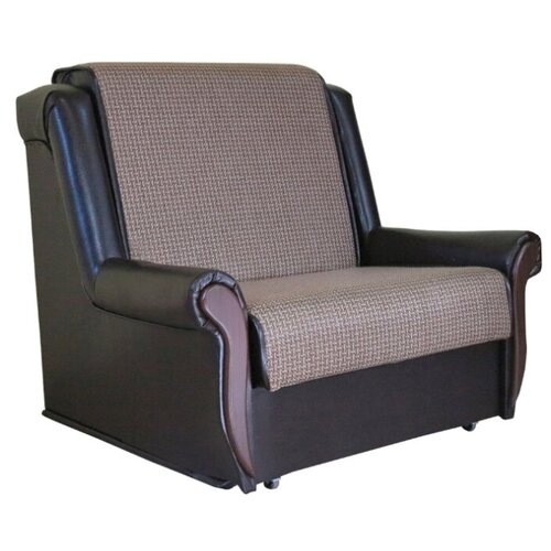 Кресло-кровать Шарм-Дизайн Аккорд М размер: 100х101 см, , размер спального места: 194х70 см, обивка: комбинированная, цвет: рогожка коричневый