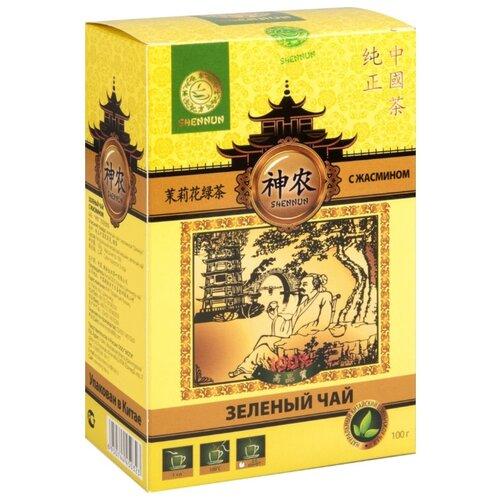 Чай зеленый Shennun с жасмином, 100 г чай листовой первая чайная компания хуа чжу ча с жасмином зеленый 100 г