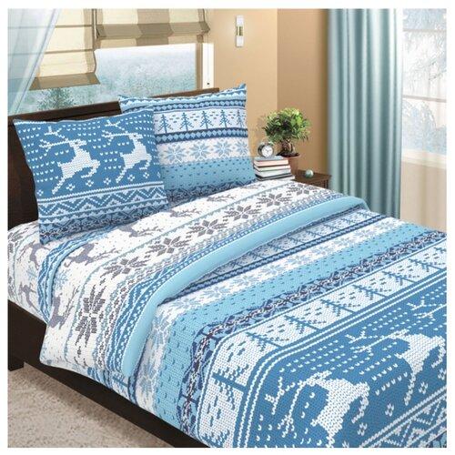 Постельное белье 2-спальное Letto B290 70х70 см, бязь голубой/белый letto детское постельное белье 3 предмета letto машинки голубой
