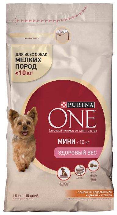 Корм для собак Purina ONE индейка