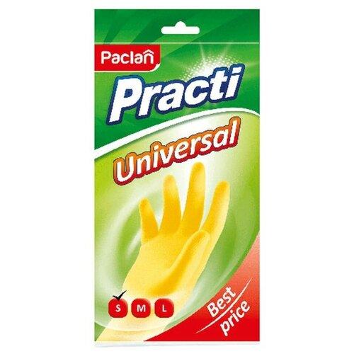 Перчатки Paclan Practi Universal, 1 пара, размер S, цвет желтый