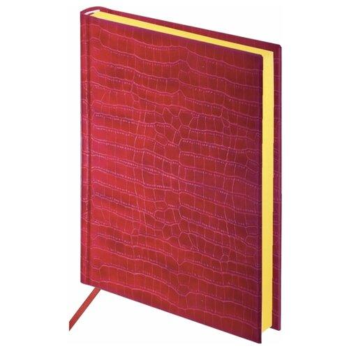 Ежедневник BRAUBERG Comodo недатированный, искусственная кожа, А5, 160 листов, красный еженедельник brauberg instinct датированный на 2021 год искусственная кожа а5 64 листов красный