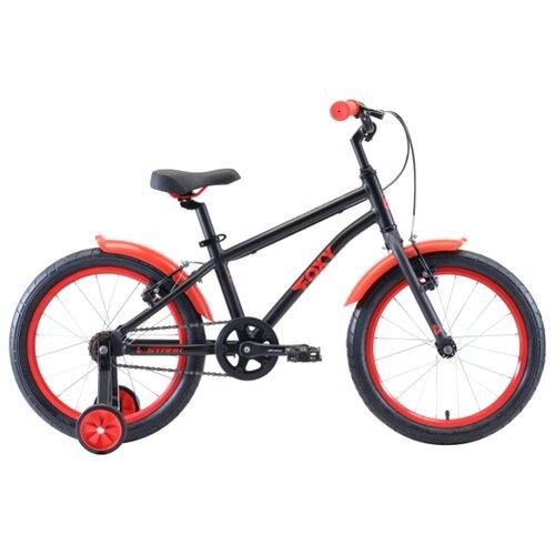 Фото - Детский велосипед STARK Foxy 18 Boy (2020) черный/красный (требует финальной сборки) велосипед bulls tokee street 24 boy 2016