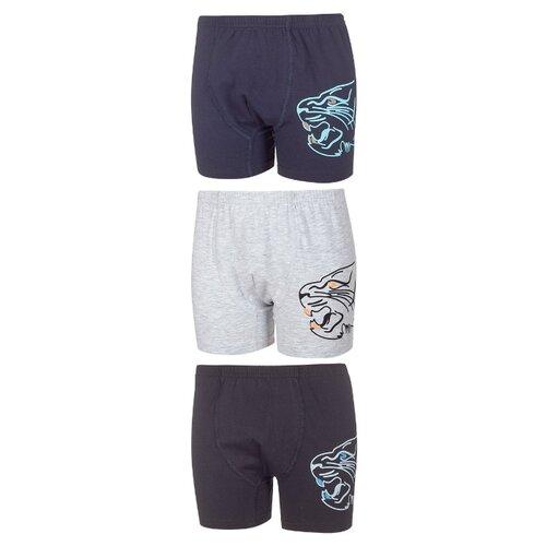 Купить Трусы BAYKAR 3 шт., размер 158/164, серый/темно-синий/черный, Белье и пляжная мода