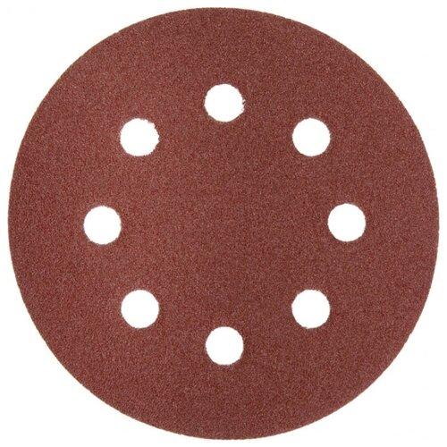 Шлифовальный круг на липучке ЗУБР 35562-125-080 125 мм 5 шт круг шлифовальный elitech 1820 038400 5 шт p120 125 мм
