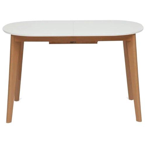 Стол кухонный TetChair Bosco, раскладной, ДхШ: 120 х 80 см, длина в разложенном виде: 150 см, белый/бук стол tetchair brugge mod edt ve001 120 150х80х75 см