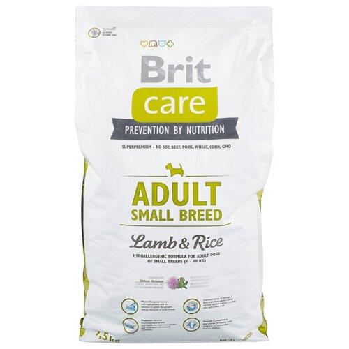 Фото - Сухой корм для собак Brit Care ягненок с рисом 7.5 кг (для мелких пород) сухой корм для собак brit care ягненок с рисом 18 кг для средних пород