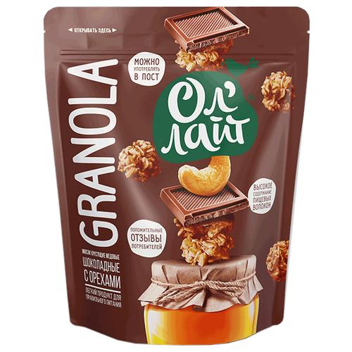 гранола lizi s с орехами и семечками без глютена пакет 400 г Гранола Ол' Лайт шоколадная с орехами, дой-пак, 280 г