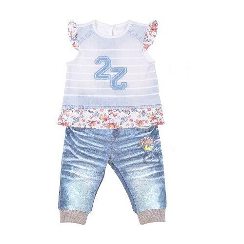 Купить Комплект одежды Папитто размер 74, белый/голубой, Комплекты