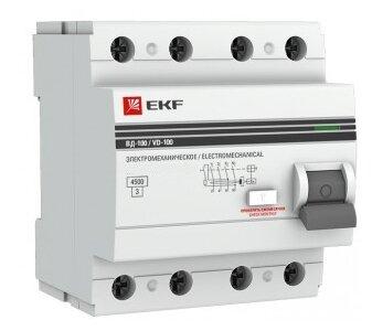 УЗО EKF 30мА тип AC ВД-100 4 полюса
