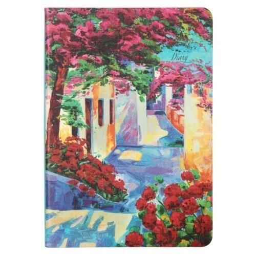 Ежедневник Канц-Эксмо In Bloom Пейзаж недатированный, искусственная кожа, А6, 128 листов, розовый/красный/синий канц эксмо ежедневник канц эксмо фантастические цветы а5 128 листов недатированный