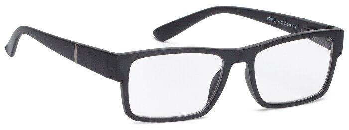 Очки корректирующие Lectio Risus P019, + 1.00, цвет оправы: черный матовый