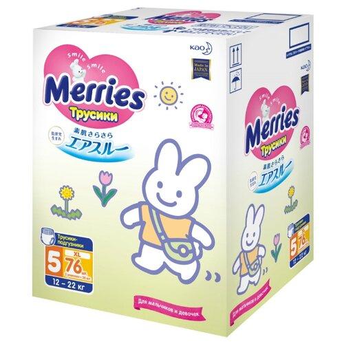 Купить Merries трусики XL (12-22 кг) 76 шт., Подгузники