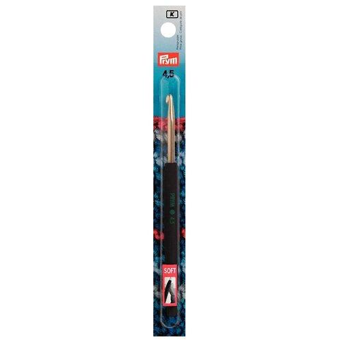 Крючок Prym с пластиковой ручкой 195177 диаметр 4.5 мм, длина 14 см, серебристый/антрацит