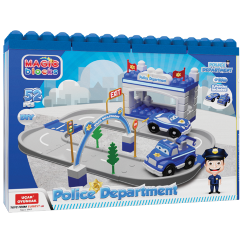 Купить Terides Полицейский участок Т6-095 серый/голубой, Детские парковки и гаражи
