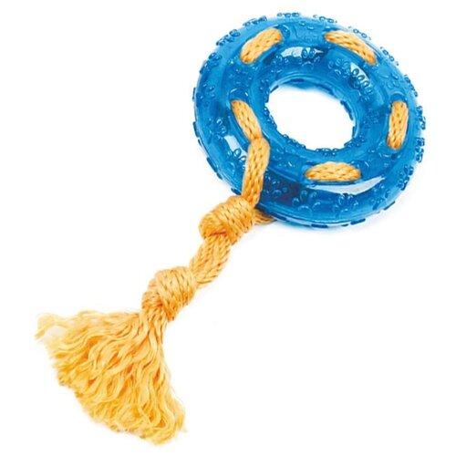 Кольцо для собак Грызлик Ам с веревкой Durable Rope Silent (30.GR.031) голубой