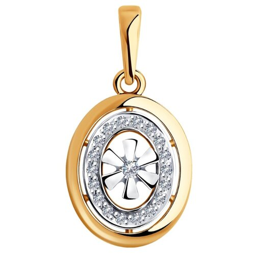SOKOLOV Подвеска из комбинированного золота с бриллиантами 1030757