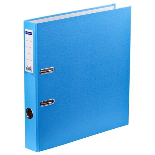 Купить OfficeSpace Папка-регистратор с карманом на корешке A4+, бумвинил, 50 мм голубой, Файлы и папки