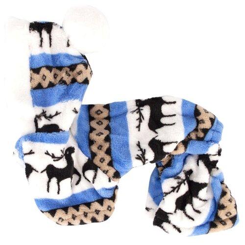 Комбинезон для собак Удачная покупка P0017 L белый/синий/черный