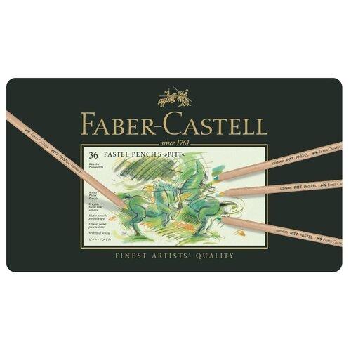 Купить Faber-Castell Пастельные карандаши Pitt 36 цветов (112136), Цветные карандаши