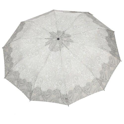 Зонт автомат ZEST 23928 серый/белый