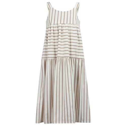 Платье Dixie размер 174, белый/полоска