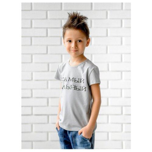 Купить Футболка looklie размер 110-116, серый, Футболки и майки