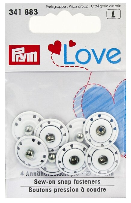 Prym Кнопки пришивные Love (34188*), 16 мм, 4 шт.