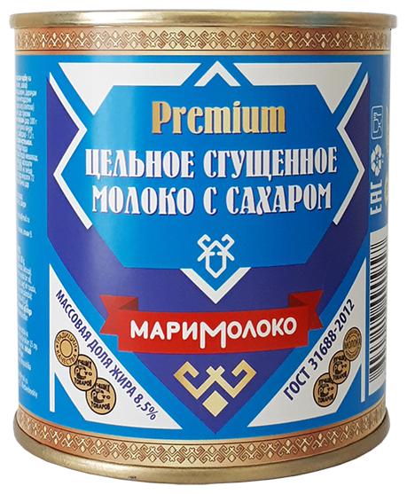 Сгущенное молоко Маримолоко Premium с сахаром 8.5%, 380 г
