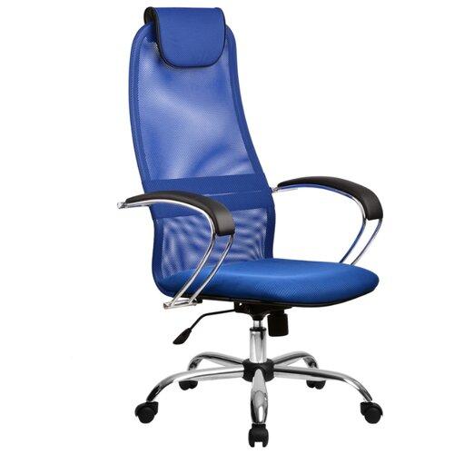 Компьютерное кресло Метта BK-8 Ch офисное, обивка: текстиль, цвет: 23-синий компьютерное кресло метта bp 2 pl офисное обивка натуральная кожа цвет 721 черный