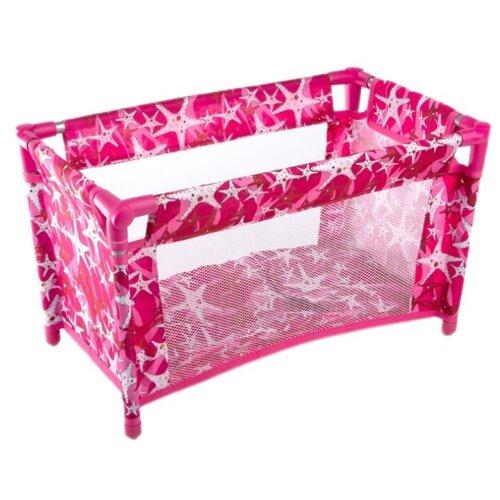 Купить Melobo / Melogo Манеж для кукол Buggy Boom Loona (8899) темно-розовый/звезды, Мебель для кукол