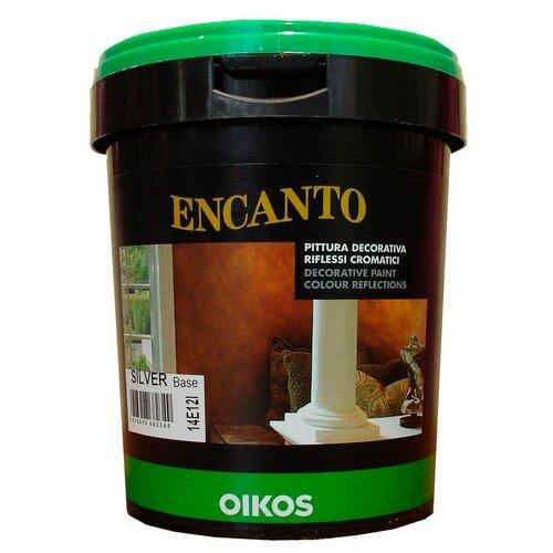 Краска Oikos Encanto silver 1 л краска акриловая oikos multidecor перламутровая моющаяся es710 1 л