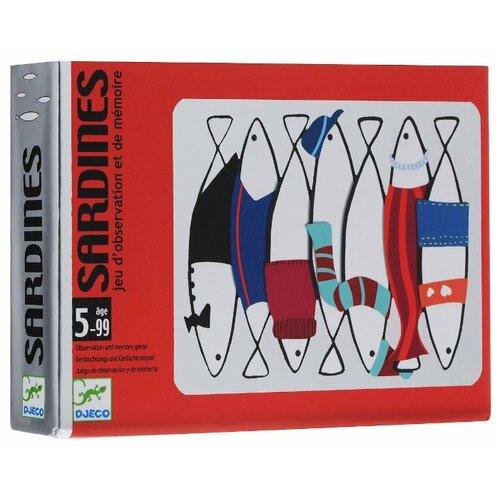 Настольная игра DJECO Карточная игра Сардины настольная игра djeco сачки и лестницы