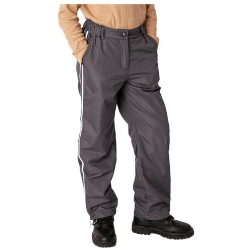 Купить Брюки Gulliver 22008GJC6407 размер 158, серый, Полукомбинезоны и брюки
