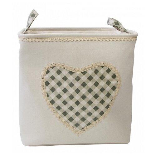 Handy Home Корзина для белья Сердце 39х30х39 см молочный корзина бельевая handy home решетка д410 ш290 в300 белый