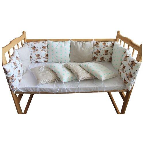Valena бортики в кроватку Бурый мишка белый бортики в кроватку mummys hugs с зайками для кроватки 120х60