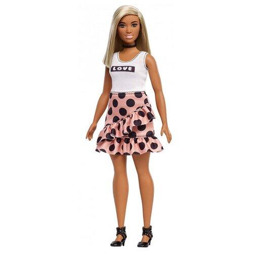 Купить Кукла Barbie Игра с модой В юбке в горох и белом топе, 29 см, FXL51, Куклы и пупсы