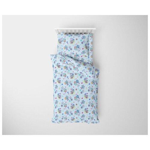 Купить Ночь Нежна комплект Совушки (3 предмета) голубой, Постельное белье и комплекты
