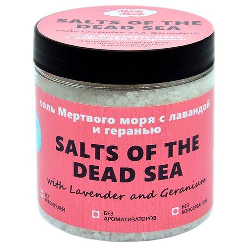 Купить Соль для ванн Meela Meelo мертвого моря с ароматом лаванды и герани 500 мл.