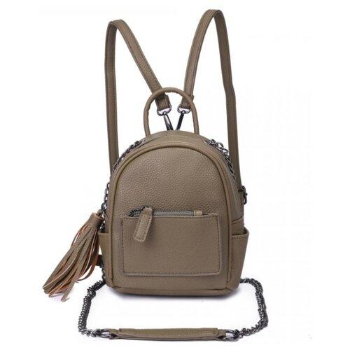 Женский рюкзак из экокожи, цвет оливковый (арт. DW-826/2)