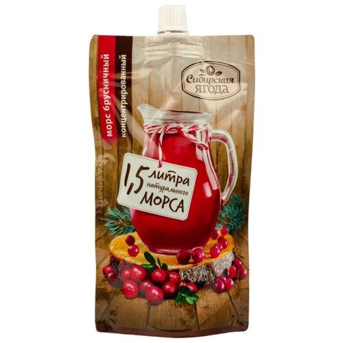 Морс Сибирская ягода Морс брусничный концентрированный с сахаром, 0.2 л морс русский морс брусничный