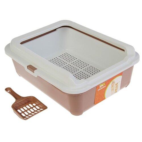 Туалет-лоток для кошек Пижон 3262768/3262769/3262770 43х33х15 см шоколад