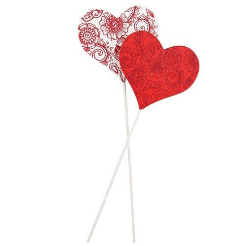 Купить Набор декоративных элементов Сердце 6, 5 х 6 см дерево 2487207, Efco, Украшения и декоративные элементы