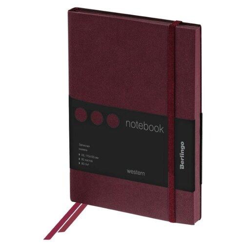Купить Ежедневник Berlingo Western недатированный, искусственная кожа, А6, 80 листов, коричневый, Ежедневники, записные книжки