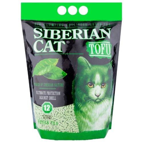 Комкующийся наполнитель Сибирская кошка TOFU Зеленый чай, 12 л