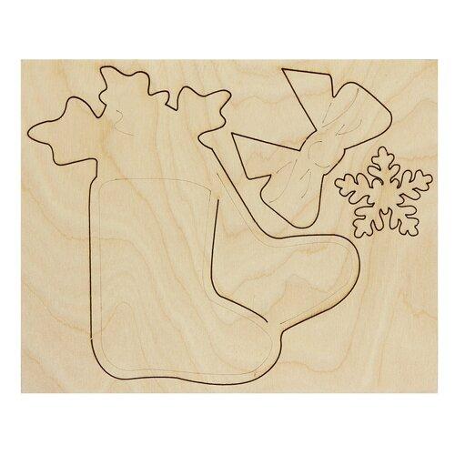 Купить Astra & Craft Деревянная заготовка для декорирования Сапожок (L-788), Роспись предметов