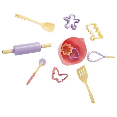 Купить Набор посуды ОГОНЁК Кулинарный набор Маленькая принцесса С-1519 розовый/фиолетовый/желтый, Игрушечная еда и посуда
